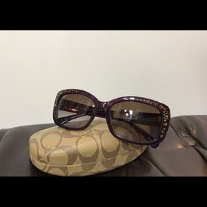 New Coach Sunglasses Purple/ Brown Gradient